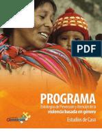 """""""Prevención y atención de la violencia basada en género"""