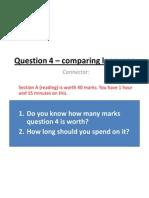 question 4  comparing language