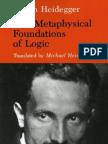 Heidegger the Metaphysical Foundations of Logic 26[1]