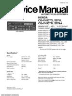Honda Car Radio CQ-YH5070_CQ-YH5071_CQ-YH5072_CQ-YH5074 Service Manual