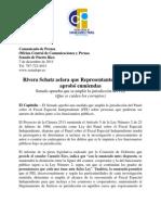 Rivera Schatz aclara que Represent Ante Fernandez aprobo enmiendas
