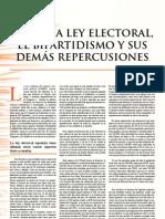 DRY - Sobre la Ley Electoral, el bipartidismo y demás repercusiones