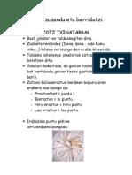 Zotz Txinatarrak Okerrak Zuzendu