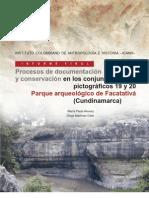 Procesos de documentación y conservación en los conjuntos pictográficos 19 y 20 Parque arqueológico de Facatativá (Cundinamarca)