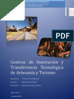 Centros de Innovación y Transferencia Tecnológica de Artesanía y Turismo