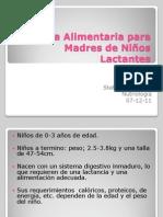 Guía Alimentaria para Madres de Niños Lactantes
