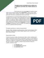 EVOLUCIÓN DE LA ARGUMENTACIÓN E INTERPRETACIÓN JURÍDICA EN LAS SENTENCIAS DEL TRIBUNAL ELECTORAL DEL PODER JUDICIAL DE LA FEDERACIÓN