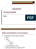 326 Musculoskeletal Assessment Fa10