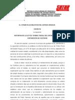 Reforma Ley de Timbre Fiscal Del Estado Aragua 2011