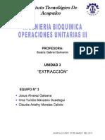 Operaciones Unitarias Unidad 3 Extraccion