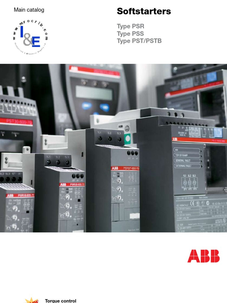 Abb Softstarters Type Psr Pss Pst Pstb Relay Fuse Electrical Current Monitoring