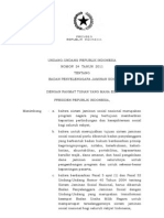 Undang Undang RI Nomor 24 Tahun 2011 - BPJS (Badan Penyelenggara Jaminan Sosial)