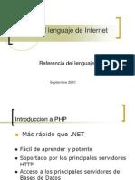 PHP El Lenguaje de Internet