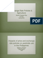 Exchange Rate Policies and Agriculture