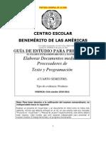 Gua Fpt Inform Tic A Liquidacin (4) Elab. Doctos. Mediante Procesadores de Texto 2010-11