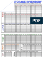 Food Storage Inventory Sheet