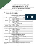 UG Timetable TN. OPEN University