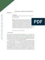 A Burinskii- Complex Kerr Geometry, Twistors and the Dirac Electron