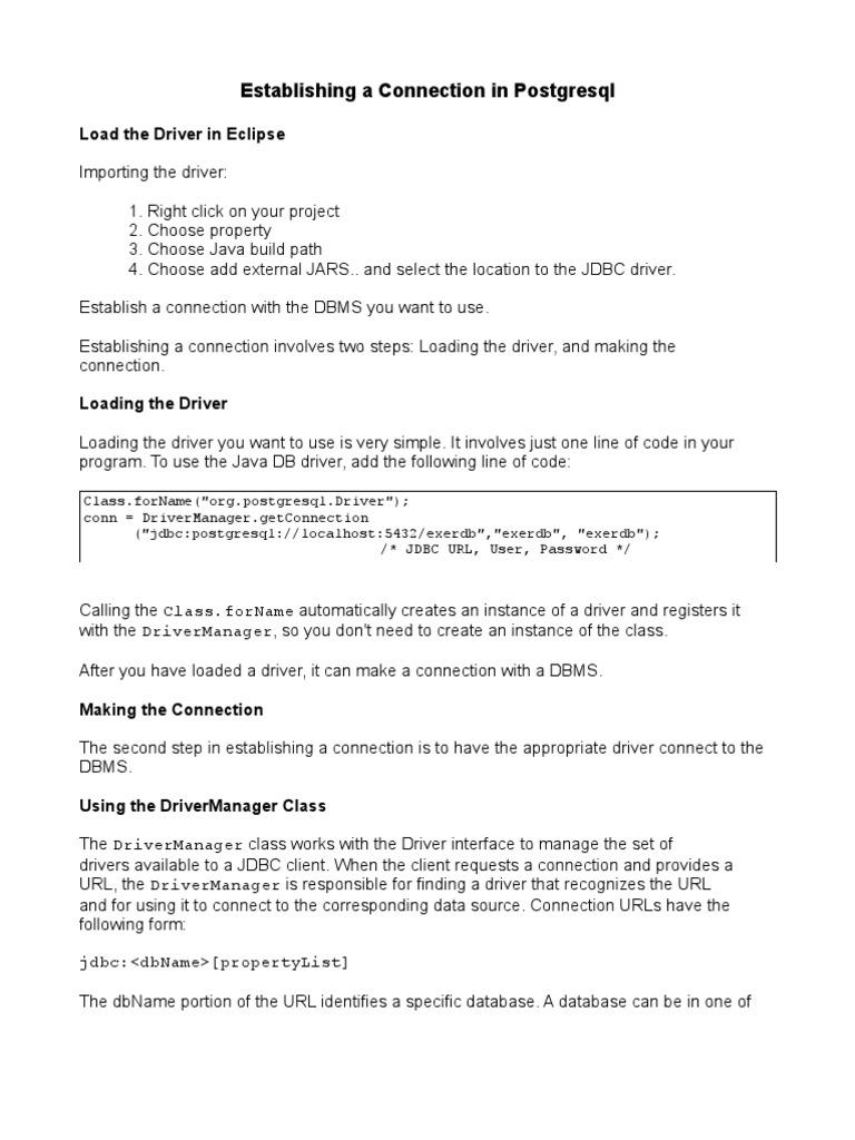 NewConnectingToPSQL Prosgres | Postgre Sql | Databases
