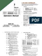 UsersGuide-Meteor C-192 DMX Controller