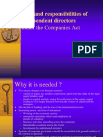 Role and Responsibilities of Independent Directors