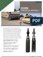 25mm Tungsten APFSDS-T