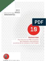 Livre Blanc jeunes entreprises innovantes / Comité Richelieu