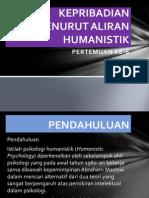 Kepribadian Menurut Aliran Humanistik
