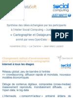 Atelier Cartographie et DataJournalisme animé par www.OpenDataSoft.com pour Social Computing