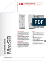 ABB; Switchboard MaxSB, Low Voltage Products and Systems