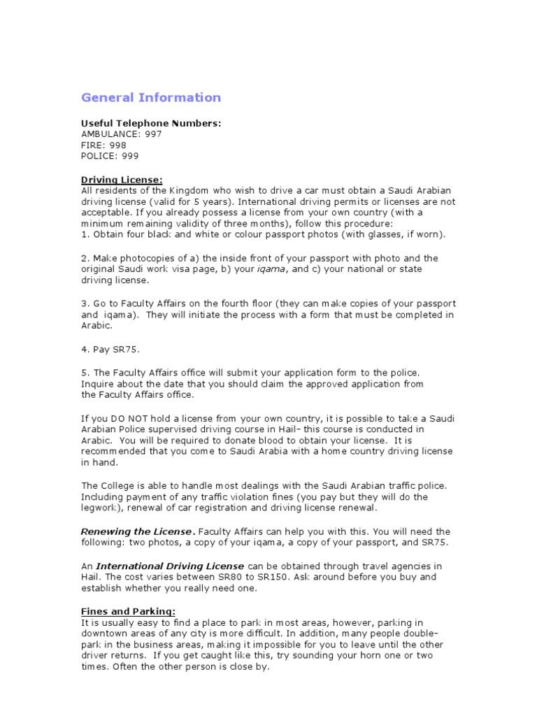 General Servces | Travel Visa | Driver's License