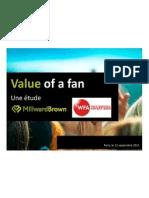 Value of Fan MBrown 092011