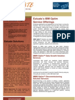 Estuate IBM Optim Service Offerings