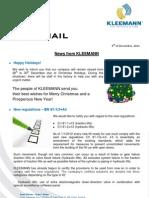 Kleemann NewsFax/Mail (December 2011) english version