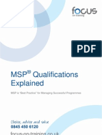 MSP Programme Management Training & Qualifications Explained