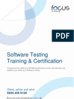 Software Testing Training and Certification