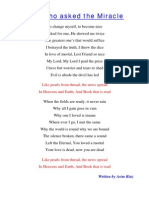 The Poem- Man Who Asked the Miracle