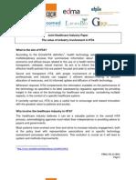 FINAL the Value of Industry Involvement in HTA 011211-20111205-008-En-V1
