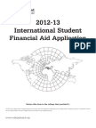 2012-13 College Board International Student Financial Aid Application