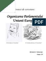 Organizarea Parlamentului Uniunii Europene