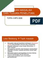 MPS Perumusan Masalah