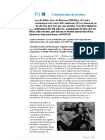 Lanzamiento Proyecto Documentos - MFAH & ICAA
