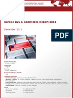 Brochure & Order Form_Europe B2C E-Commerce Report 2011_by yStats.com