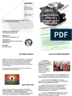 Presentación Manifiesto Militantes y Simpatizantes PSRM