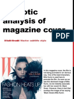 Semiological Magazine Cover Analysis- Black Swan