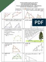 Mat UTFRS 18. Semelhanca de Triangulos Exercicios