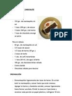 Torta de Moka y Chocolate