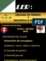 Expo Sic Ion Genero y Desarrollo Personal