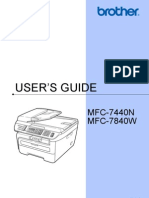 Brother MFC 7840W Printer Manual
