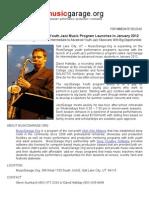 Press Release JazzGarage